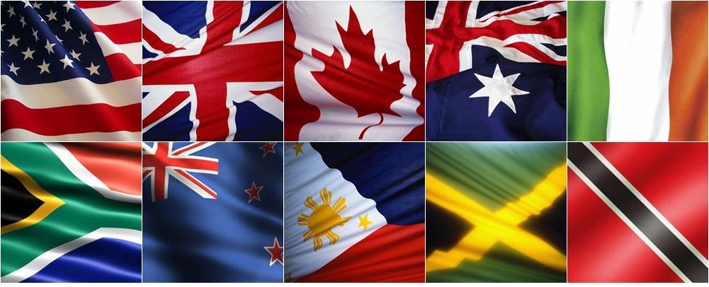 Top ten de países donde el inglés es la lengua materna